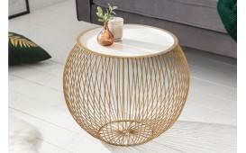 Designer Couchtisch CAGE GOLD WHITE 51 cm-NATIVO™ Designer Möbel Österreich