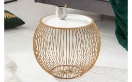 Designer Beistelltisch CAGE GOLD WHITE 41 cm-NATIVO™ Designer Möbel Österreich