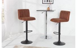 2 x Designer Barhocker PORT BROWN