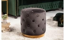 Designer Sitzhocker ROCCO CHESTER BLACK