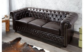 3 sitzer sofa CHESTERFIELD DARK COFFEE