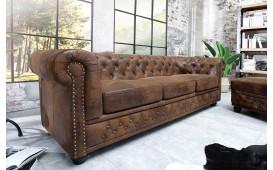 3 sitzer sofa CHESTERFIELD ANTIK BROWN-NATIVO™ Designer Möbel Österreich