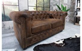 2 sitzer sofa CHESTERFIELD ANTIK BROWN