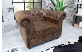 Designer Relaxsessel CHESTERFIELD ANTIK BROWN