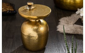 Designer Beistelltisch ORIENTAL ROUND GOLD