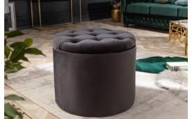 Designer Sitzhocker ROCCO BLACK S
