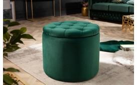 Designer Sitzhocker ROCCO DARK GREEN S