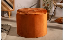Designer Sitzhocker ROCCO ORANGE S