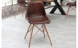 4 x Designer Stuhl ARRIVA BROWN STRIPED-NATIVO™ Designer Möbel Österreich