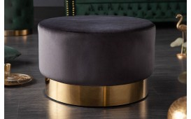 Designer Sitzhocker ROCCO BLACK GOLD 55 cm