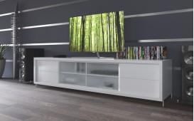 Hochglanz Designer Sideboard BROOKLYN WHITE AB LAGER