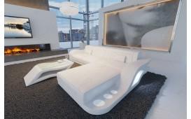 Designer Sofa HERMES MINI mit LED Beleuchtung (Weiss) AB LAGER