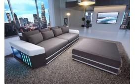 BIG Sofa SKYLINE mit LED Beleuchtung (Grau/Weiss) AB LAGER NATIVO™ Möbel Österreich