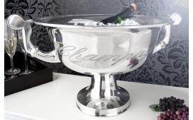 Designer Champagner-Kühler CAMPANIE SILBER