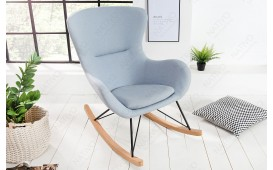 Designer Lounge Sessel BERGEN LIGHT BLUE