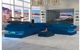 Designer Sofa EXODUS CORNER mit LED Beleuchtung & USB Anschluss
