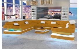 Designer Sofa EXODUS CORNER U FORM mit LED Beleuchtung & USB Anschluss