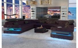 Designer Sofa EXODUS CORNER U FORM mit LED Beleuchtung & USB Anschluss-NATIVO™ Designer Möbel Österreich