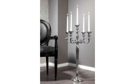 Designer Kerzenständer CANDELABRUM SILVER M