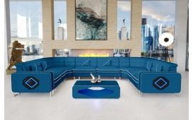 Designer Sofa GREGORY CORNER U FORM mit LED Beleuchtung