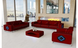 Designer Sofa GREGORY 3+2+1 mit LED Beleuchtung