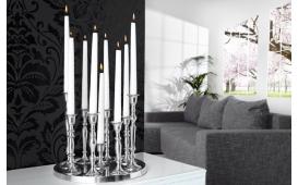 Designer Kerzenständer CHANDELIER SILVER L