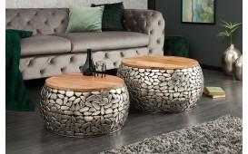 Designer Couchtisch BLOCK SILVER SET 2-NATIVO™️ Designer Möbel Österreich