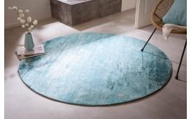 Designer Teppich ABSTRUSE TURQUOISE ROUND-NATIVO™️ Designer Möbel Österreich