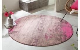 Designer Teppich ABSTRUSE PINK ROUND-NATIVO™️ Designer Möbel Österreich