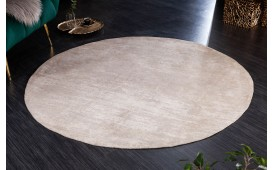 Designer Teppich ABSTRUSE BEIGE ROUND-NATIVO™️ Designer Möbel Österreich