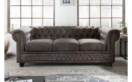3 sitzer sofa CHESTERFIELD GREY-NATIVO™️ Designer Möbel Österreich