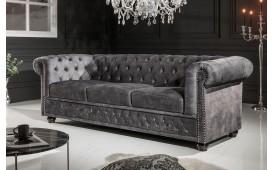 3 sitzer sofa CHESTERFIELD GREY I-NATIVO™️ Designer Möbel Österreich