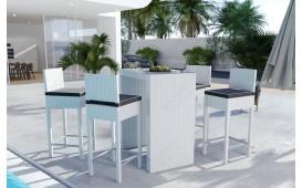 Rattan Lounge CARSON Bartischsatz (5tlg.) v1