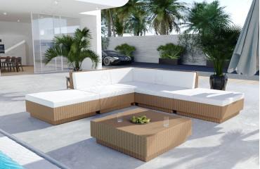 Rattan Lounge Garten Set CORALE V1-NATIVO™️ Designer Möbel Österreich