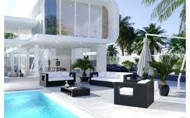 Rattan Lounge GROOVE Garten (5.tlg.) - V1