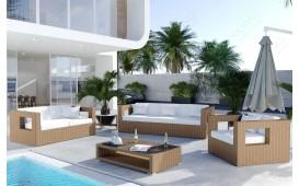 Rattan Lounge GROOVE Garten (5.tlg.) - v2