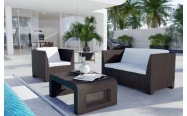 Rattan Lounge HARMONY Bartischsatz v2
