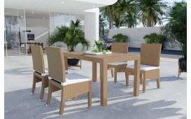 Rattan Lounge VICITA Esstischsatz (7tlg.) v1-NATIVO™️ Designer Möbel Österreich
