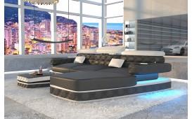 Designer Sofa EXODUS MINI mit LED Beleuchtung & USB Anschluss (Schwarz/Weiss) AB LAGER
