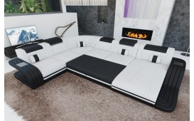 Designer Sofa ROYAL XXL mit LED Beleuchtung & USB Anschluss-NATIVO™️ Designer Möbel Österreich