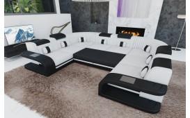 Designer Sofa ROYAL CORNER U FORM mit LED Beleuchtung & USB Anschluss-NATIVO™️ Designer Möbel Österreich