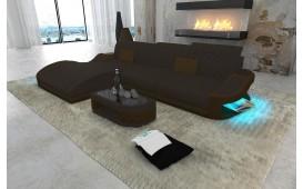 Designer Sofa DIABLO MINI mit LED Beleuchtung & USB Anschluss (K229/K237) AB LAGER