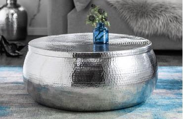 Designer Couchtisch AMELLIA SILVER -NATIVO™ Designer Möbel Österreich