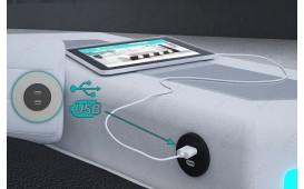 Designer Sofa NEMESIS MINI mit LED Beleuchtung & USB Anschluss (Schwarz/Weiss) AB LAGER-NATIVO™️ Designer Möbel Österreich