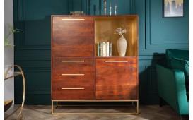 Designer Hochkommode FLAT GOLD 120 cm - NATIVO™ Designer Möbel Österreich