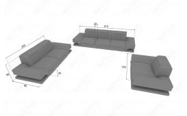 3 Sitzer Sofa ROUGE mit LED Beleuchtung & USB Anschluss NATIVO™ möbel Österreich