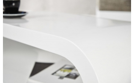 Designer Couchtisch VINTAGE WHITE 90 cm