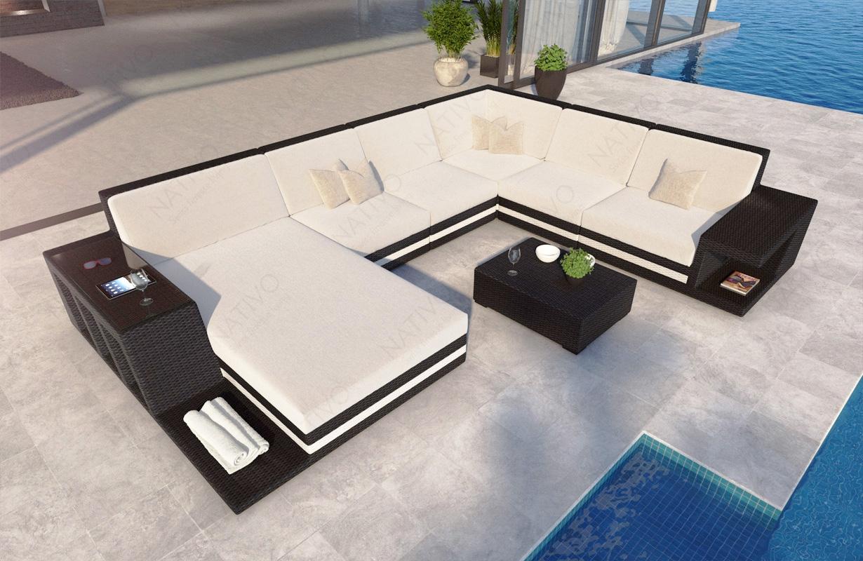 Rattan Sofa Lounge Modular von NATIVO Möbel
