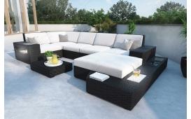 XXL Designer Rattan Lounge Sofa MESI inkl. Beleuchtung