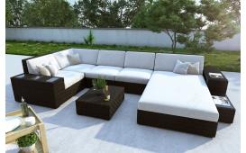 Designer Rattan Lounge Sofa NEYMAR XL mit LED Licht von NATIVO Möbel Österreich